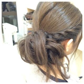編み込み ツイスト ふわふわ ヘアアレンジ ヘアスタイルや髪型の写真・画像 ヘアスタイルや髪型の写真・画像