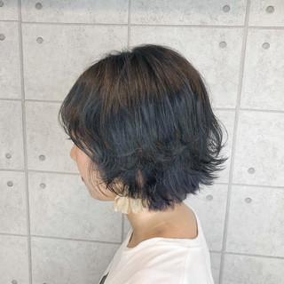 モード ダークグレー アッシュグレージュ グレージュ ヘアスタイルや髪型の写真・画像