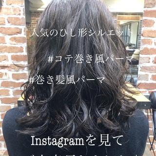 パーマ フェミニン ゆるふわパーマ 前髪パーマ ヘアスタイルや髪型の写真・画像 ヘアスタイルや髪型の写真・画像