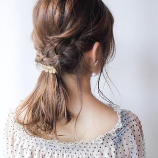 夏 コンサバ 簡単ヘアアレンジ 結婚式 ヘアスタイルや髪型の写真・画像