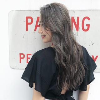 ビーチガール 3Dハイライト ハイライト ロング ヘアスタイルや髪型の写真・画像