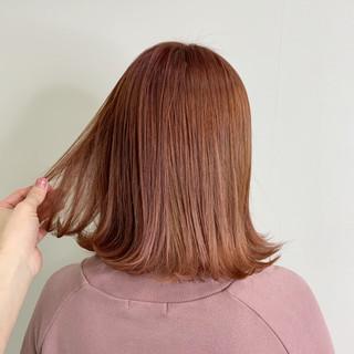 ナチュラル ボブ ベリーピンク ピンクラベンダー ヘアスタイルや髪型の写真・画像