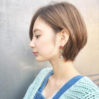 ショート 女子力 ナチュラル 簡単ヘアアレンジ ヘアスタイルや髪型の写真・画像