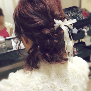 ヘアアレンジ 結婚式 デート リボン ヘアスタイルや髪型の写真・画像 | fots.愛美 / fots.南堀江