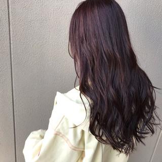 ラベンダーピンク バイオレットカラー ピンクバイオレット ナチュラル ヘアスタイルや髪型の写真・画像 ヘアスタイルや髪型の写真・画像