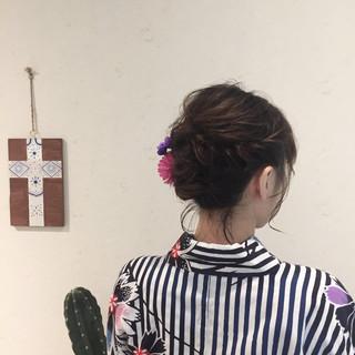 お祭り ヘアアレンジ 夏 花火大会 ヘアスタイルや髪型の写真・画像