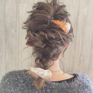 ふわふわ ミディアム 三角クリップ ガーリー ヘアスタイルや髪型の写真・画像 ヘアスタイルや髪型の写真・画像
