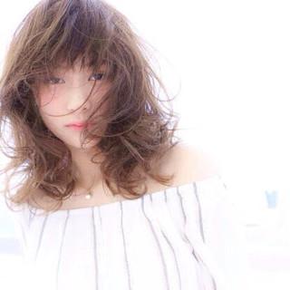 透明感 おフェロ マット ナチュラル ヘアスタイルや髪型の写真・画像 ヘアスタイルや髪型の写真・画像