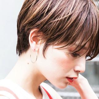 ヌーディベージュ ミルクティーベージュ ベリーショート ショート ヘアスタイルや髪型の写真・画像