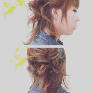 ミディアム ヘアアレンジ 簡単ヘアアレンジ ショート ヘアスタイルや髪型の写真・画像 ヘアスタイルや髪型の写真・画像