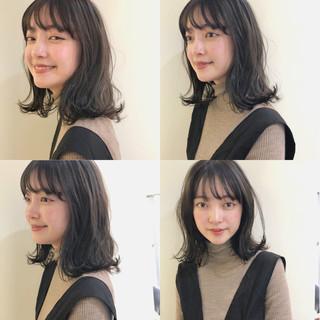 ミディアム 大人かわいい ゆるふわ ガーリー ヘアスタイルや髪型の写真・画像 ヘアスタイルや髪型の写真・画像