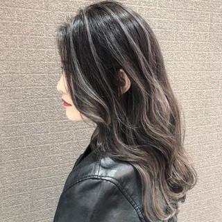 デート 外国人風 バレイヤージュ 外国人風カラー ヘアスタイルや髪型の写真・画像