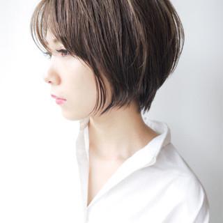 ショート 大人かわいい ショートボブ ナチュラル ヘアスタイルや髪型の写真・画像 ヘアスタイルや髪型の写真・画像