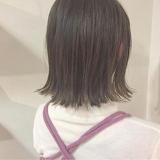 切りっぱなし ボブ 外国人風 外ハネ ヘアスタイルや髪型の写真・画像 ヘアスタイルや髪型の写真・画像