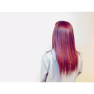 ピンク 上品 エレガント ロング ヘアスタイルや髪型の写真・画像