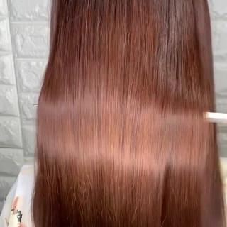 髪質改善トリートメント フェミニン 髪質改善 セミロング ヘアスタイルや髪型の写真・画像