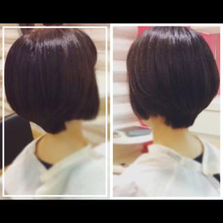 ショート 髪質改善トリートメント オフィス ナチュラル ヘアスタイルや髪型の写真・画像