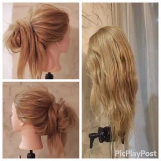 ショート ナチュラル セミロング フェミニン ヘアスタイルや髪型の写真・画像