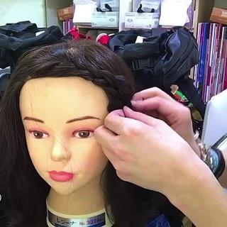 ショート 女子会 編み込み 簡単ヘアアレンジ ヘアスタイルや髪型の写真・画像