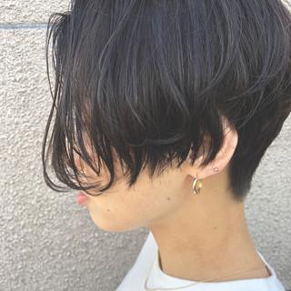 イメチェン 暗髪女子 モード ショート ヘアスタイルや髪型の写真・画像