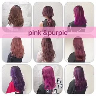 ダブルカラー グラデーションカラー カラーバター フェミニン ヘアスタイルや髪型の写真・画像