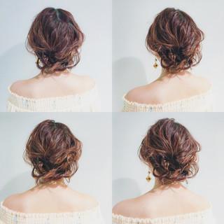 ナチュラル ヘアアレンジ ふんわり ミディアム ヘアスタイルや髪型の写真・画像