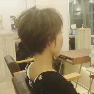 ベリーショート 透明感 小顔 こなれ感 ヘアスタイルや髪型の写真・画像
