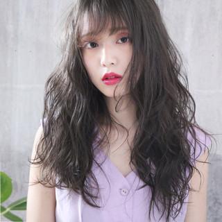 アンニュイほつれヘア ミルクティーアッシュ ロング ミルクティーグレージュ ヘアスタイルや髪型の写真・画像