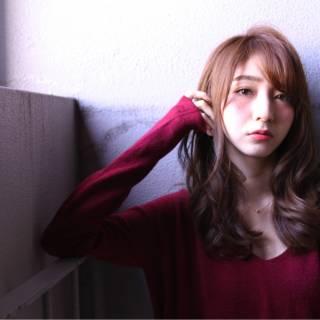 パンク マルサラ 秋 セミロング ヘアスタイルや髪型の写真・画像