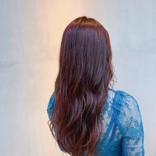 透明感カラー チェリーレッド ナチュラル 外国人風カラー ヘアスタイルや髪型の写真・画像