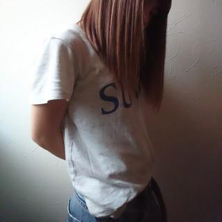 ストリート ミディアム 前髪パッツン 抜け感 ヘアスタイルや髪型の写真・画像