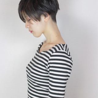 ベリーショート ショート 外国人風カラー 冬 ヘアスタイルや髪型の写真・画像