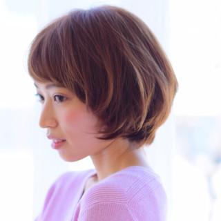 ショート ボブ 艶髪 小顔 ヘアスタイルや髪型の写真・画像