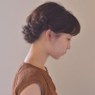 ミディアム アウトドア 大人かわいい 涼しげ ヘアスタイルや髪型の写真・画像