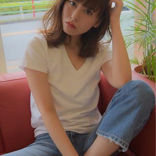 大人女子 リラックス ゆるふわ 外ハネ ヘアスタイルや髪型の写真・画像