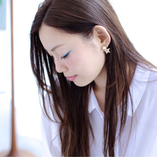 デート ロング オフィス かわいい ヘアスタイルや髪型の写真・画像 ヘアスタイルや髪型の写真・画像