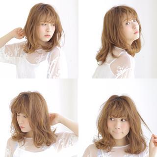 パーマ グラデーションカラー ゆるふわ フェミニン ヘアスタイルや髪型の写真・画像
