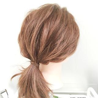 ヘアアレンジ ショート セミロング 簡単ヘアアレンジ ヘアスタイルや髪型の写真・画像