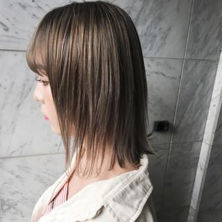 ボブ 外国人風 外国人風カラー ミルクティー ヘアスタイルや髪型の写真・画像