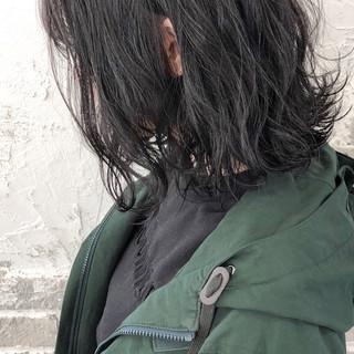 グレージュ ボブ 切りっぱなしボブ ナチュラル ヘアスタイルや髪型の写真・画像