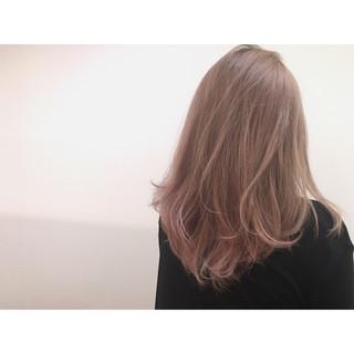 大人かわいい ストリート ベージュ ピンク ヘアスタイルや髪型の写真・画像