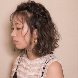 ウェーブ ボブ シースルーバング 秋 ヘアスタイルや髪型の写真・画像
