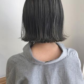 透明感 外ハネ 切りっぱなし 秋 ヘアスタイルや髪型の写真・画像