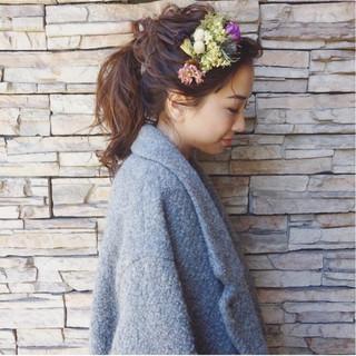 大人かわいい ナチュラル ガーリー ヘアアレンジ ヘアスタイルや髪型の写真・画像