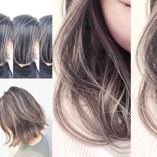 ハイライト ユニコーンカラー グラデーションカラー バレイヤージュ ヘアスタイルや髪型の写真・画像