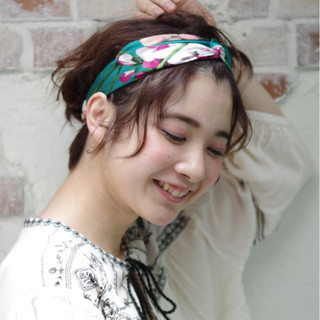 ピュア 夏 ショート パーマ ヘアスタイルや髪型の写真・画像 ヘアスタイルや髪型の写真・画像