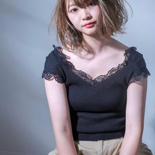 透明感 ブリーチ 外国人風カラー ストリート ヘアスタイルや髪型の写真・画像