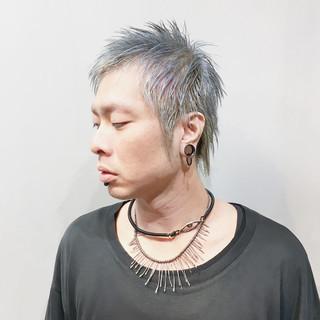 ショート ショートヘア シルバーアッシュ ベリーショート ヘアスタイルや髪型の写真・画像