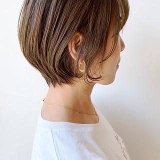 ばっさり 大人かわいい 丸みショート ショートボブ ヘアスタイルや髪型の写真・画像 ヘアスタイルや髪型の写真・画像