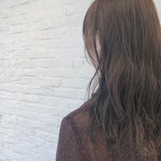 セミロング 透明感 ゆるふわ ブリーチなし ヘアスタイルや髪型の写真・画像